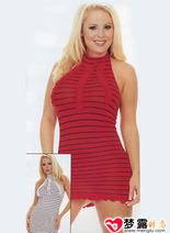 性感條紋緊身短裙