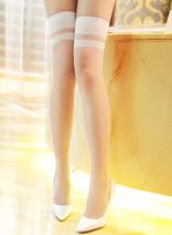 15D防卷落包芯絲長筒襪