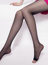 20D低腰T襠魚嘴襪