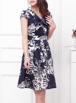 高檔純棉優雅修身連衣裙
