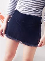 時尚百搭-女式蕾絲花邊裙式短褲