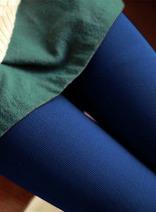 DELUXSEY 糖果色加厚保暖連褲襪 女士秋季新款韓版修身打底襪 2015顯瘦潮服