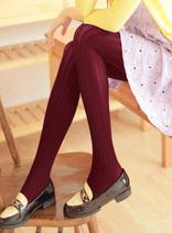 DELUXSEY 針織線條連褲襪 女士秋季新款韓版修身打底襪 2015顯瘦潮服